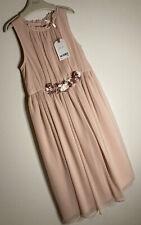 NEXT Girls Age 10 Years Pink Corsage 'Maxi Midi Dress Bridesmaid Occasion Pretty