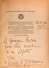 Gabriele D'Annunzio Libro Per l'Italia degli Italiani Autografato