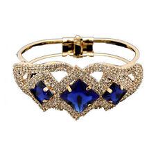 Blue Rhinestone Costume Bracelets