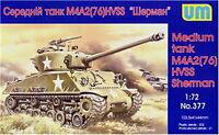 Unimodel 377 Medium Tank M4A276 W Hvss WW II Plastic 1/72 scale model kit
