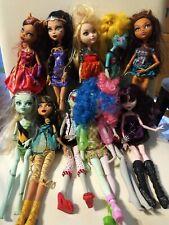 Lot 11 Monster High Girl Dolls Mattel