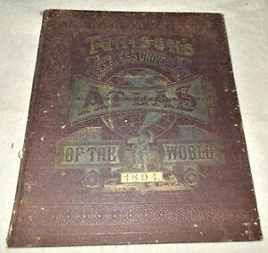 Tunisons Peerless Universal Atlas of the World  1894