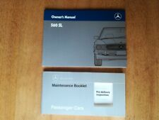 NEW Nos Mercedes W107 560SL Owners Manuals + NEW Nos Maintenance Booklet