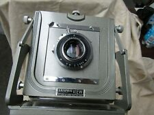 4X5 GRAPHIC VIEW  CAMERA with 127mm F4.7 COATED  KODAK EKTAR LENS and CASE