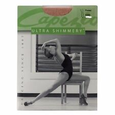 Capezio Adult Footed Ultra shimmery Tights Caramel Dance Cheer szS BNWT (25)