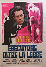 """""""LES SEINS DE GLACE"""" Affiche orig. italienne entoilée Alain DELON/ Mireille DARC"""