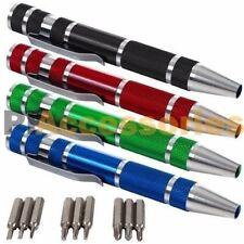 9 Pcs Aluminum Mini Precision Screwdriver Set Phillips Slotted Torque Repair Kit