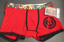 Marvel Mens Blue Avengers Age Of Ultron Boxer Briefs Small 28-30 Red