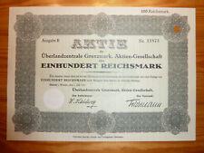 D: E: Überlandzentr. Grenzmark, Flatow, Westpreussen, 100 RM, 1931*