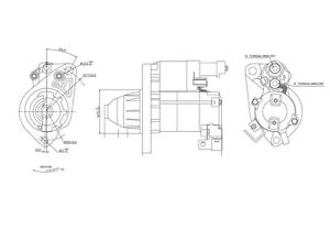 Starter Motor TYC 1-17957 fits 06-11 Honda Civic 1.8L-L4