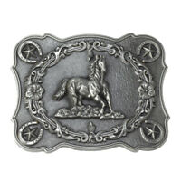 Horse Belt Buckle Western Cowboy Cowgirl Native American Motorcyclist (HRS-15-S)