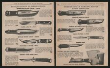 1966 STOEGER Hunting Knife 2 AD LOT 11 Knives shown w/original prices