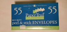 """55 Count Peel and Stick Paper Trail White Security Envelopes 3 5/8""""x 6 1/2"""""""