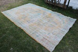 """Vintage Handmade Turkish Muted Large Area Rug 100""""x67"""""""