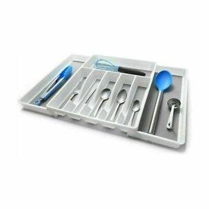 Expandable Cutlery Kitchen Tray Organizer Drawer Storage Holder Insert DividerT2