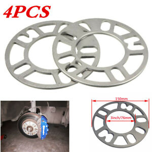 4Pcs 5mm Alloy Hubcentric Wheel Spacers/Shims Adaptor Fits For 4/5 Auto Studs