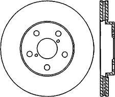 StopTech Disc Brake Rotor Front Left for Lexus GS430 / IS350 / GS350 / GS450H