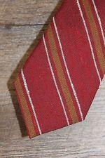 "J.Crew Tie Red/Tan/White Diagonal Stripes NEW Slim Men's 2 3/4"" Wide Silk"