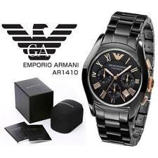 Montre / Horloge Emporio Armani Original Noir Céramique Deluxe hommes AR1410