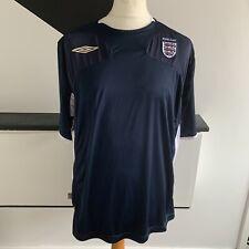 Inglaterra Umbro Entrenamiento Camisa Tamaño XXL Azul Marino Blanco | Fútbol Casual euros