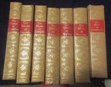 LOT OF 7 BOOKS 2 THE WORKS OF EMERSON,1 POEMS OF LONGFELLOW, 1 POEMS OF TENNYSON