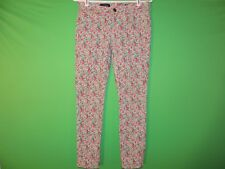 J.CREW Womens Size 25 Ankle Toothpick Floral Geometric Pants