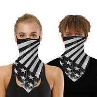 Half Face Masks US flag Printed Neck Long Triangle Scarf Motorcycle Bandana