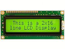 DISPLAY LCD 2X16 GIALLO/VERDE SET HD44780 CON BACKLIGHT