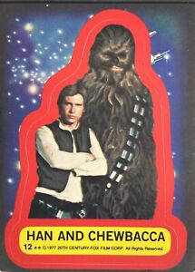 1977 Star Wars Series 2 Complete Stickers Set #12-22 HAN SOLO, CHEWBACCA, C3PO