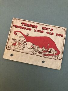 Vintage HTF Trader Vic's Thousand Year Old Dips Recipe Card Fold Out 7 Recipes