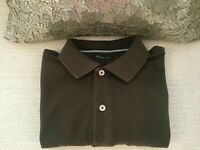 Mens DesignerPolo Short Sleeve Massimo Dutti Shirt L (int L) -100% COTTON