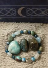 White witch weight loss bracelet crystal healing apatite amazonite labradorite