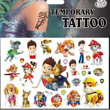 1x Paw Patrol Temporary Tattoo Sheets Children Kids Birthday Party Bag Filler