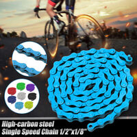 "Bicycle Bike Chain Single Speed 1/2""x1/8"" Coloured MTB BMX Fixie Fixed Gear 96 L"
