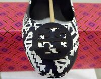 d89a8c0fc25 New  228 Tory Burch MINNIE TRAVEL BALLET Flats Navy White Leather Tapestry  Geo 7