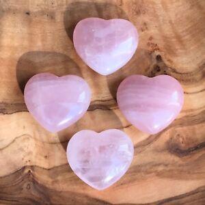 1-100 x Rose Quartz Crystal Hearts 25mm Love Healing Wholesale Wedding Favours