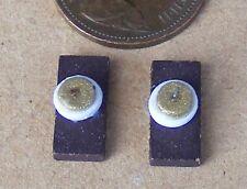 Échelle 1:12 Crème ronde en céramique lavabo avec Ajustée robinets tumdee maison de poupées Cr12