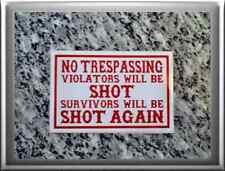 "Hells Angels support 81 stickers autocollant ""no trespassing"""