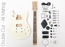 NEW DIY Electric Guitar Kit Double Cut Build Your Own Guitar Kit – Alt Mahogany