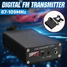 LCD FM Transmitter Stereo PLL Digital Mini Broadcast Wireless Radio Station 5-7W