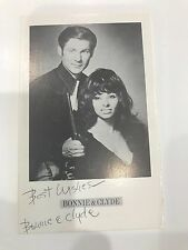 Bonnie and Clyde Show Post Card Signed 1978