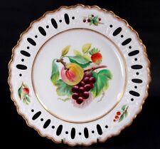 ANTIQUE ENGLISH FINE PORCELAIN PIERCED FRUIT PLATE Circa 1860