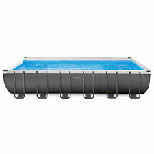 Intex 24 x 12 x 4.3 Foot Ultra Frame Pool Set with Accessories and Cleaning Kit