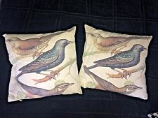 H&M HOME Two Cushions Birds Motif