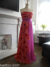 COAST MAXI LONG FUCHSIA PINK  FLORAL EVENING DRESS SIZE 12