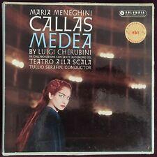 Rare Audiophile Callas Serafin Cherubini Medea 3LP Columbia SAX 2290 B/S UK ED1