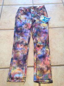 Girls Pants Justice Shiny Premium Super Skinny 5R
