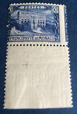 Monaco N° 58 50 C Bleu Neuf ** 5 De 50 C Coupe Reporte A Droite  TTB