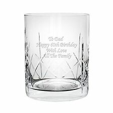 Personalised CR1 Engraved Crystal Whisky Mixer Glass