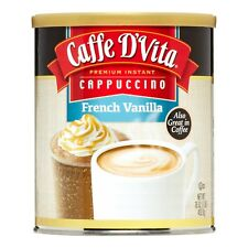 6 Packs - Caffe D'Vita Vanilla Cappuccino MIx, Blended Hot or Iced Coffee 16 Oz